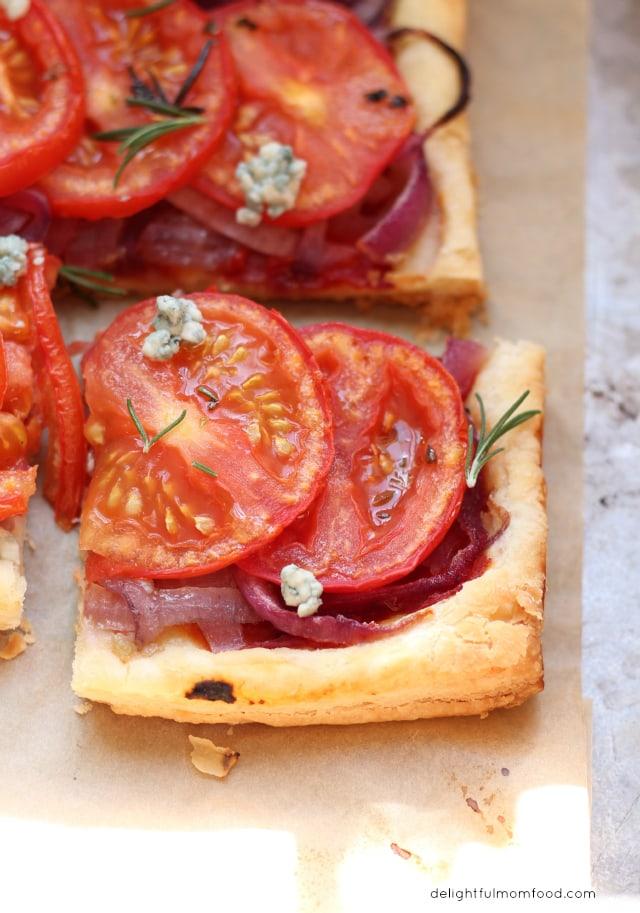 Tomato Onion Tart