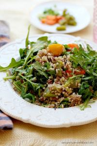 Arugula Salad with Champagne Vinaigrette Dressing