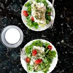 Foil Baked Cod Fish With Grape Tomatoes