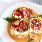 Skinny Zucchini Lasagna Rolls