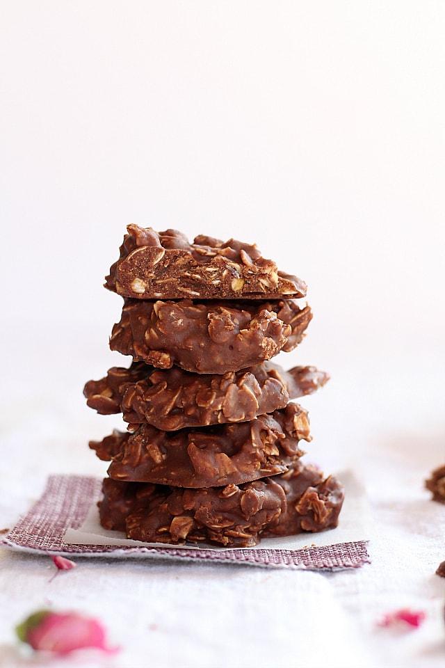 Chocolate Peanut Butter No Bake Cookies | Gluten Free