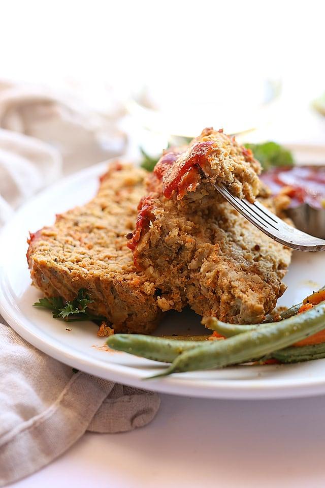 Veggie filled turkey meatloaf!