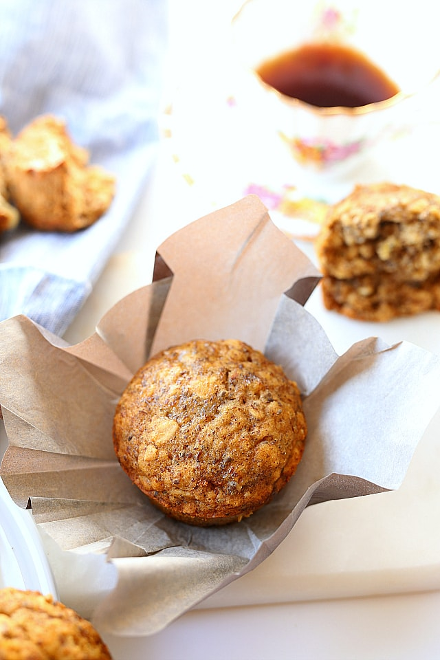 Easy Healthy Oat, Flax and Chia Seed Muffins | Gluten Free