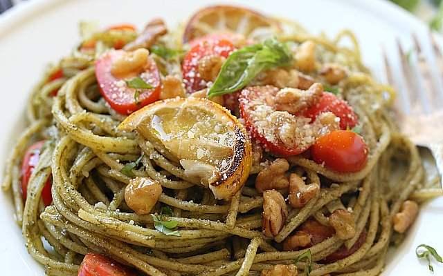 Lemony Basil Pesto Pasta