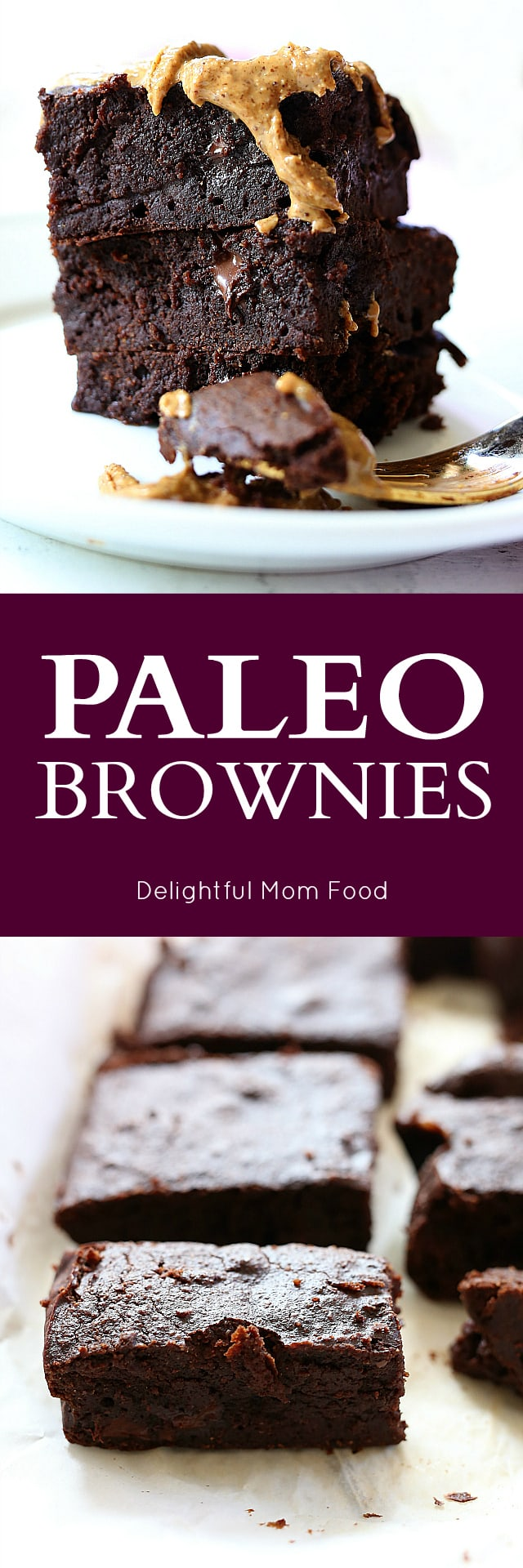 Feel clean and lean with these ultra fudgy paleo brownies iced in melting almond butter!