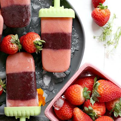 Strawberry Popsicle's Packed With Squash & Kale Vegetables