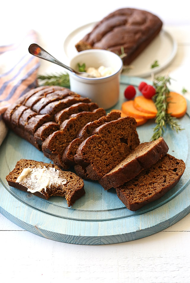 Butternut squash flax bread with sweet whipped cinnamon spice butter