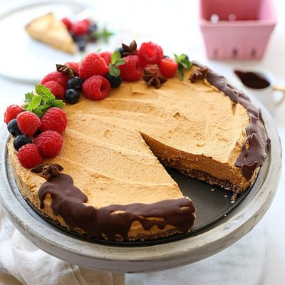 No-Bake Pumpkin Pie (Raw, Dairy-Free)