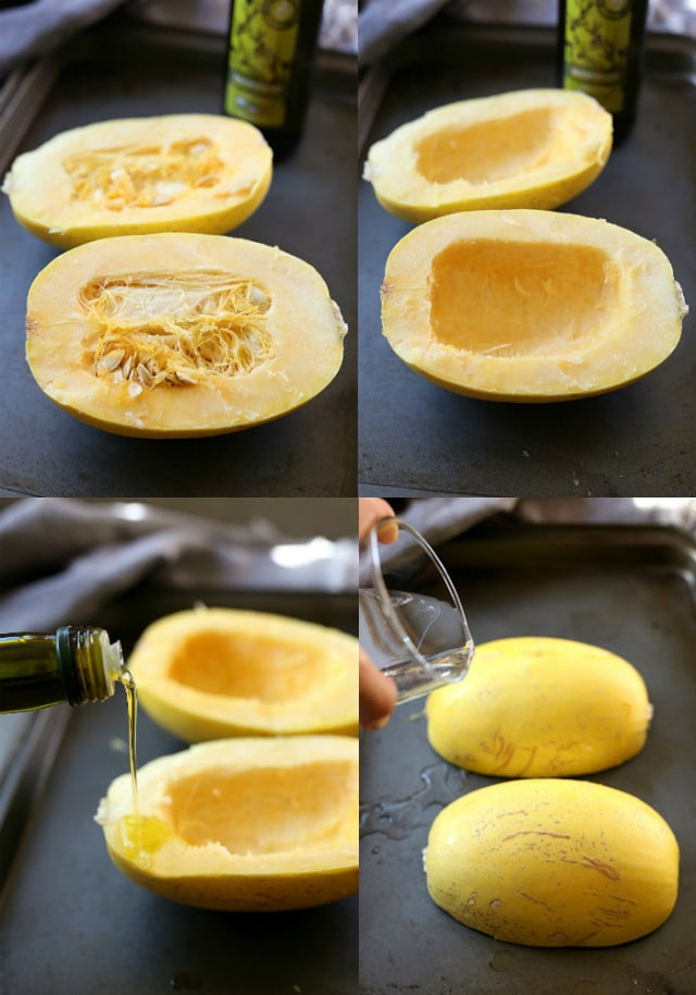 how to cook and roast spaghetti squash