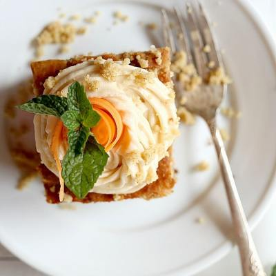 Easy Carrot Cake Breakfast Cake With Refined Sugar-Free Icing
