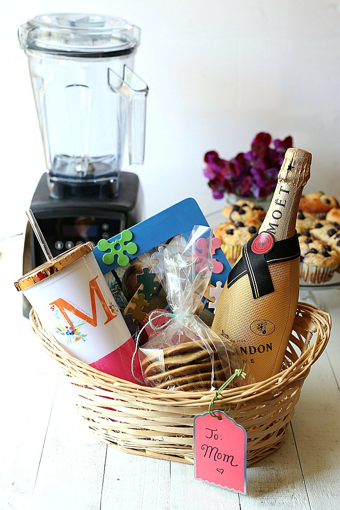 gift basket for mom from kids