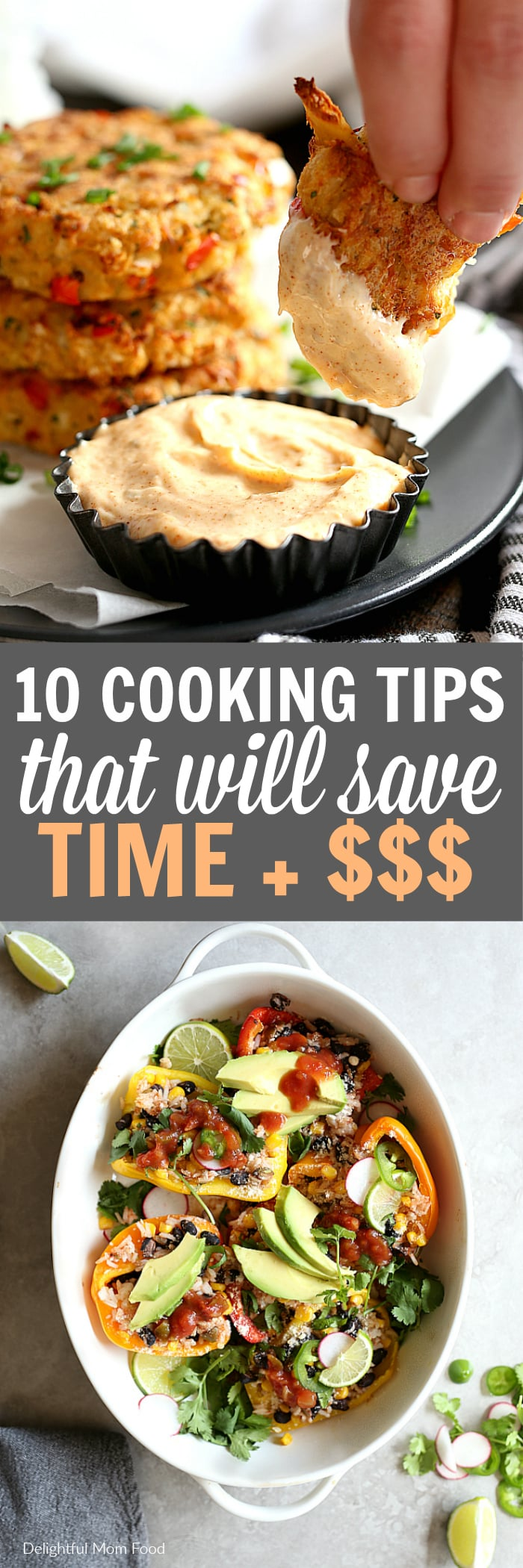 Cooking tips that are tried and true to save you time in the kitchen. These routines will help simplify meals, make your time more efficient and help you cook with confidence. #cooking #tips #save #time #money | Article at delightfulmomfood.com