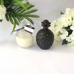 Clear and Black Pineapple Jar Candles