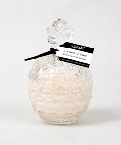 Deluxe Clear Pineapple Soy Candles