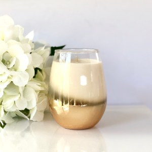 Rose Gold Riley Stemless Soy Candle