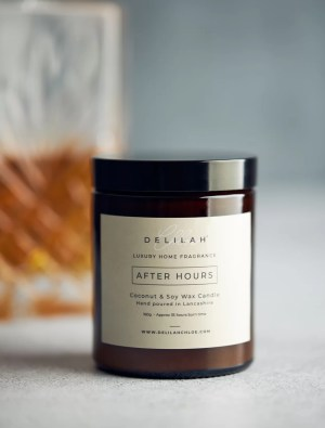 Tobacco & Oak Luxury Candle, After Hours by Delilah Chloe. Home Fragrance & Luxury Toiletries