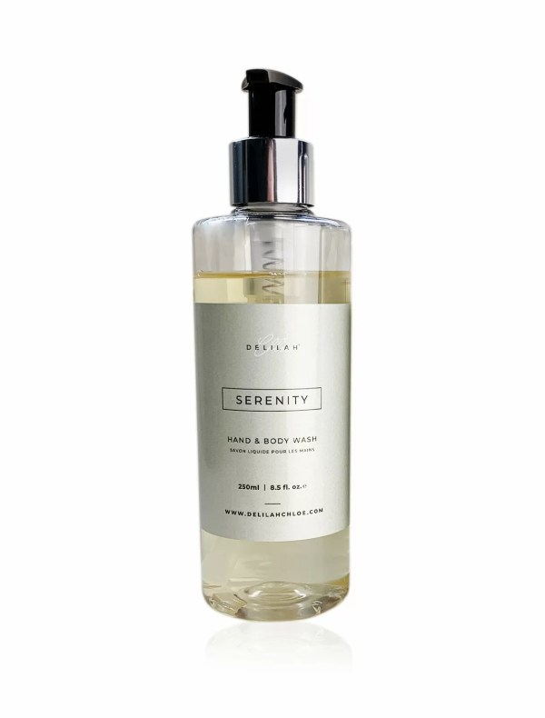 Serenity Hand Wash by Delilah Chloe, Lemongrass & Ginger fragranced hand and body wash