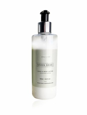 Seven Seas Hand Lotion by Delilah Chloe, luxury bergamot and amber skin care