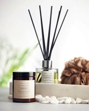 Serenity Candle and Reed Diffuser Set, Luxury Home Fragrance by Delilah Chloe