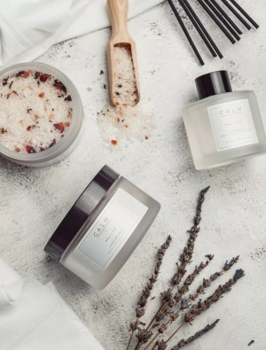 CALM Collection by Delilah Chloe, Luxury Bath Salts & Reed Diffuser, designed to have a relaxing effect on the mind and body, you can truly prepare for a good night's sleep.