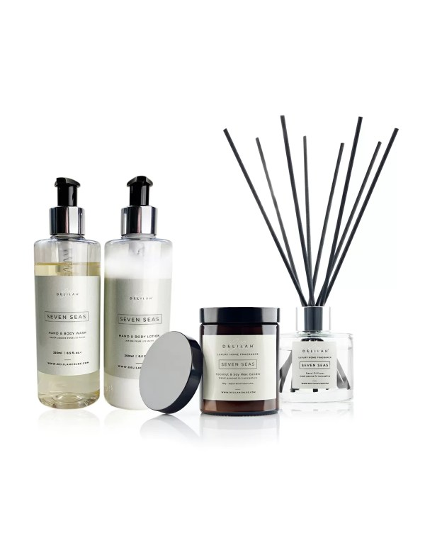 Seven Seas Gift Set, Candle and bath & body gift set by Delilah Chloe