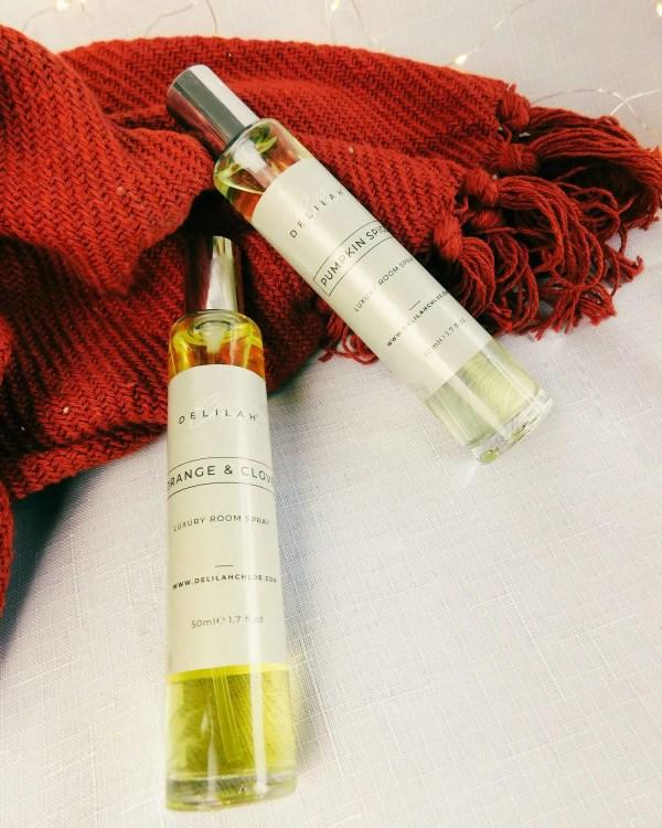 Autumn & Winter Room Spray Duo, festive home fragrances. Christmas Air Freshener. Home Fragrances by Delilah Chloe