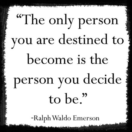 who you decide to be