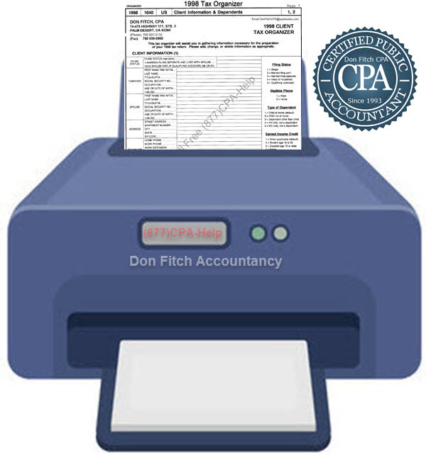 1998 Tax Organizer - Click on the above to Download the 1998 Tax Organizer in pdf format