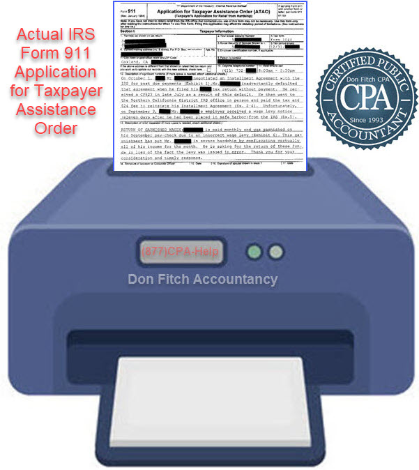 IRS Form 911 Application for Taxpayer Assistance Order