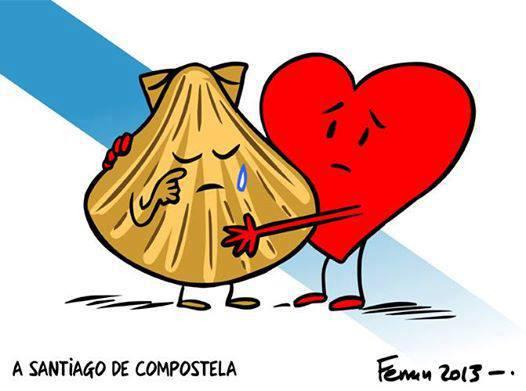 Delirio de amor a Santiago de compostela