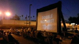 """Screening of Noir classic """"Double Indemnity"""" at Glendale Train Station, where the film's murder scene takes place."""