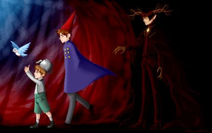 Arte: http://nari-nori.deviantart.com/art/Over-the-garden-wall-Darkness-AU-504855647