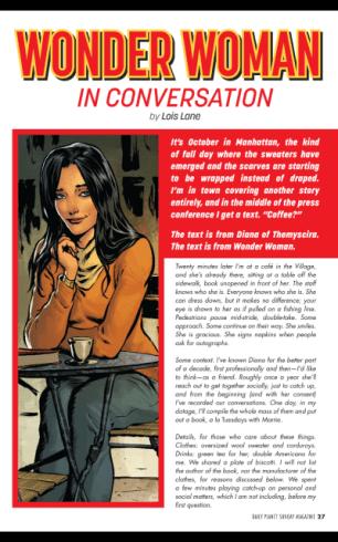 Entrevista feita por Lois Lane