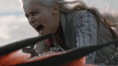 Daenerys Targaryen (Emilia Clarke) em Game of Thrones