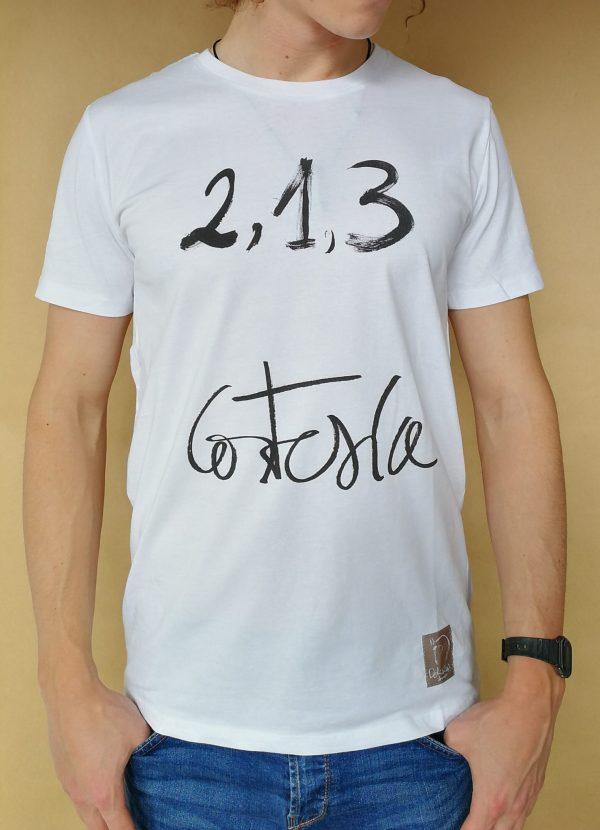 Camiseta Cortesia manga corta color blanco hombre