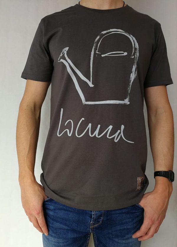 Camiseta locura manga corta color antracita hombre