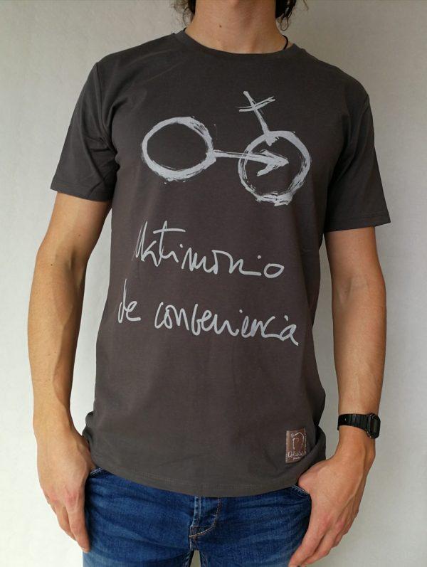 Camiseta Matrimonio de conveniencia color antracita hombre
