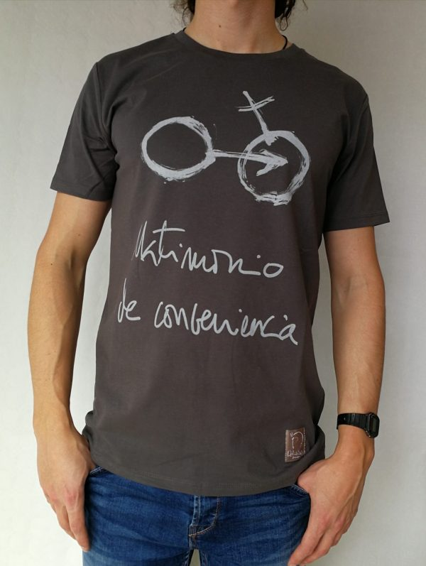 Camiseta Matrimonio de conveniencia color antracita hombre