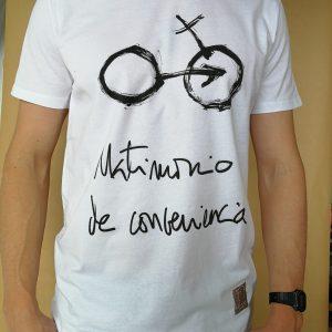 Camiseta Matrimonio de conveniencia color blanco hombre