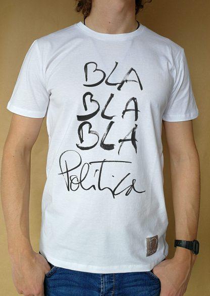 Camiseta Politica manga corta color blanco hombre