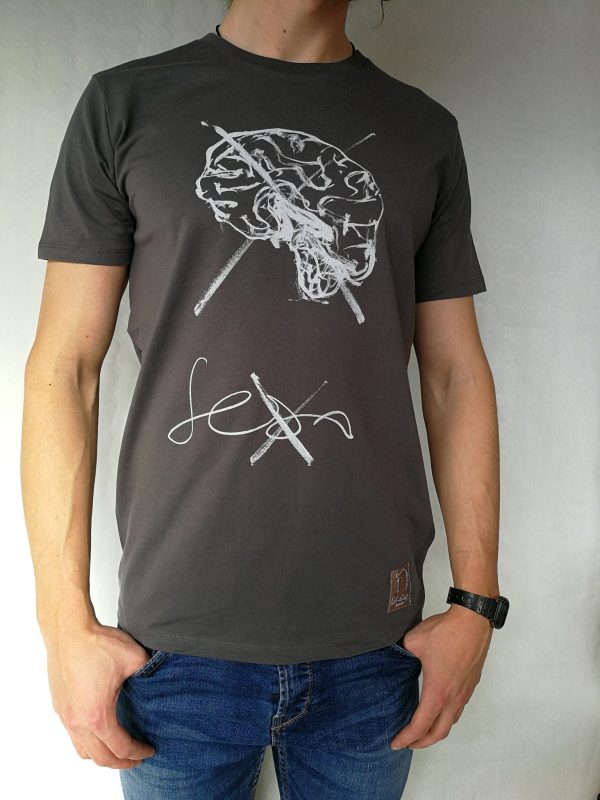Camiseta Sexo manga corta color antracita hombre