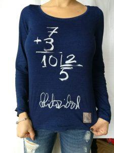 Camiseta solidaridad manga larga color azul mujer