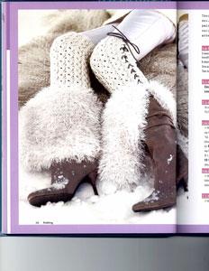 Knit.101 Book Faux Fur Lace Ribbed Leggings
