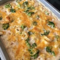 Tortellini & Broccoli Alfredo Bake