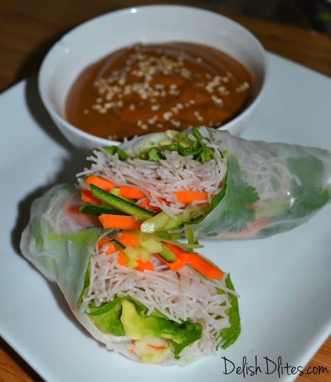 Vietnamese Style Spring/Summer Rolls   Delish D'Lites