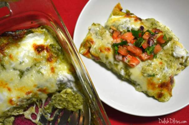 Cheesy Turkey Enchiladas | Delish D'Lites