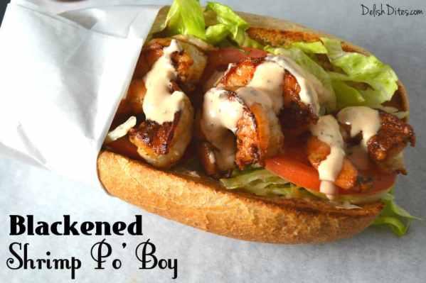 Blackened Shrimp Po' Boys | Delish D'Lites