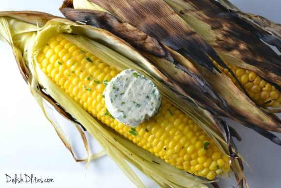 Grilled Corn with Parmesan Herb Butter | Delish D'Lites