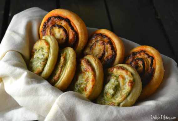 Pesto Puff Pastry Pinwheels   Delish D'Lites