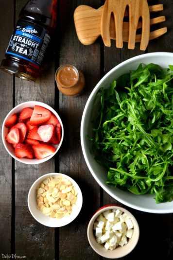 Strawberry, Arugula and Feta Salad |Delish D'Lites